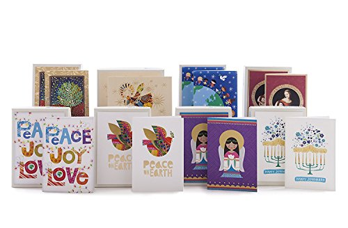 Hallmark UNICEF Christmas Boxed Cards (Peace On Earth Dove Lettering, 12 Christmas Greeting Cards and 13 Envelopes) Photo #8
