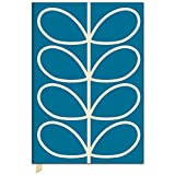 Studio Oh! Orla Kiely Linear Stem Fabric-Covered A5 Address Book, Blue