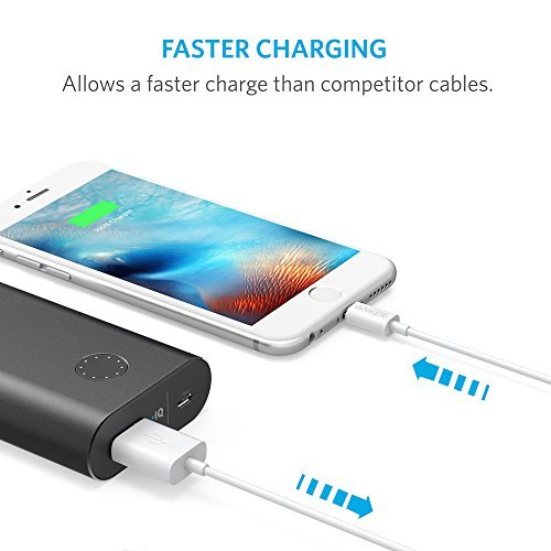 iPhone Charger, Anker Lightning to USB Cable (3ft) for iPhone Xs/XS Max/XR/X / 8/8 Plus / 7/7 Plus, iPad Pro Air 2, iPad Mini 4 3 2, iPod Touch 5th / 6th gen[Apple MFi Certified] (Black)