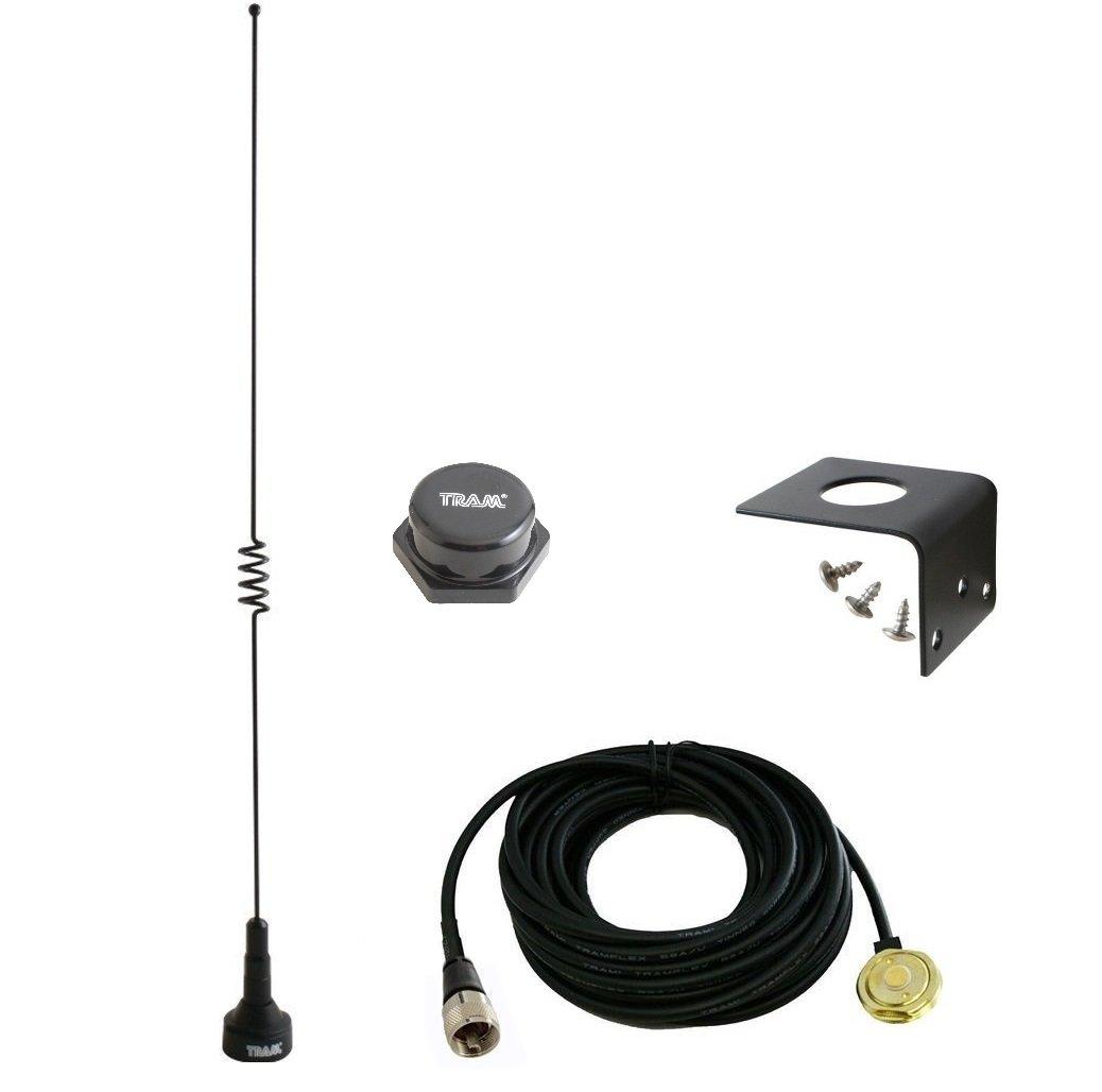 Amateur デュアルバンド マリンNMO 18.5インチ アンテナ VHF 140-170 & UHF 430-470 MHz モバイルラジオ用 2メートル 70センチメートル PL-259 UHFマウント 1181 1250付き   B07DP98SF4