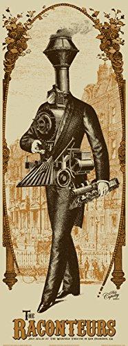 Raconteurs 22–23/07/06 à San Francisco-Impression Sur Soie édition limitée Par Poster musique Rob Jones Original signé avec Raconteurs