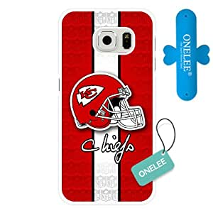 Samsung Galaxy S6 Edge Case, Customized NFL Kansas City Chiefs Logo White Hard Shell Samsung Galaxy S6 Edge Case, Kansas City Chiefs Logo Galaxy S6 Edge Case(Only Fit for Galaxy S6 Edge)