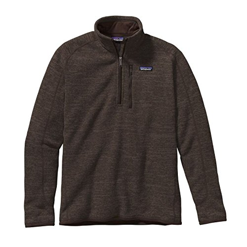 Patagonia Men's Better Sweater 1/4 Zip, Dark Walnut SM