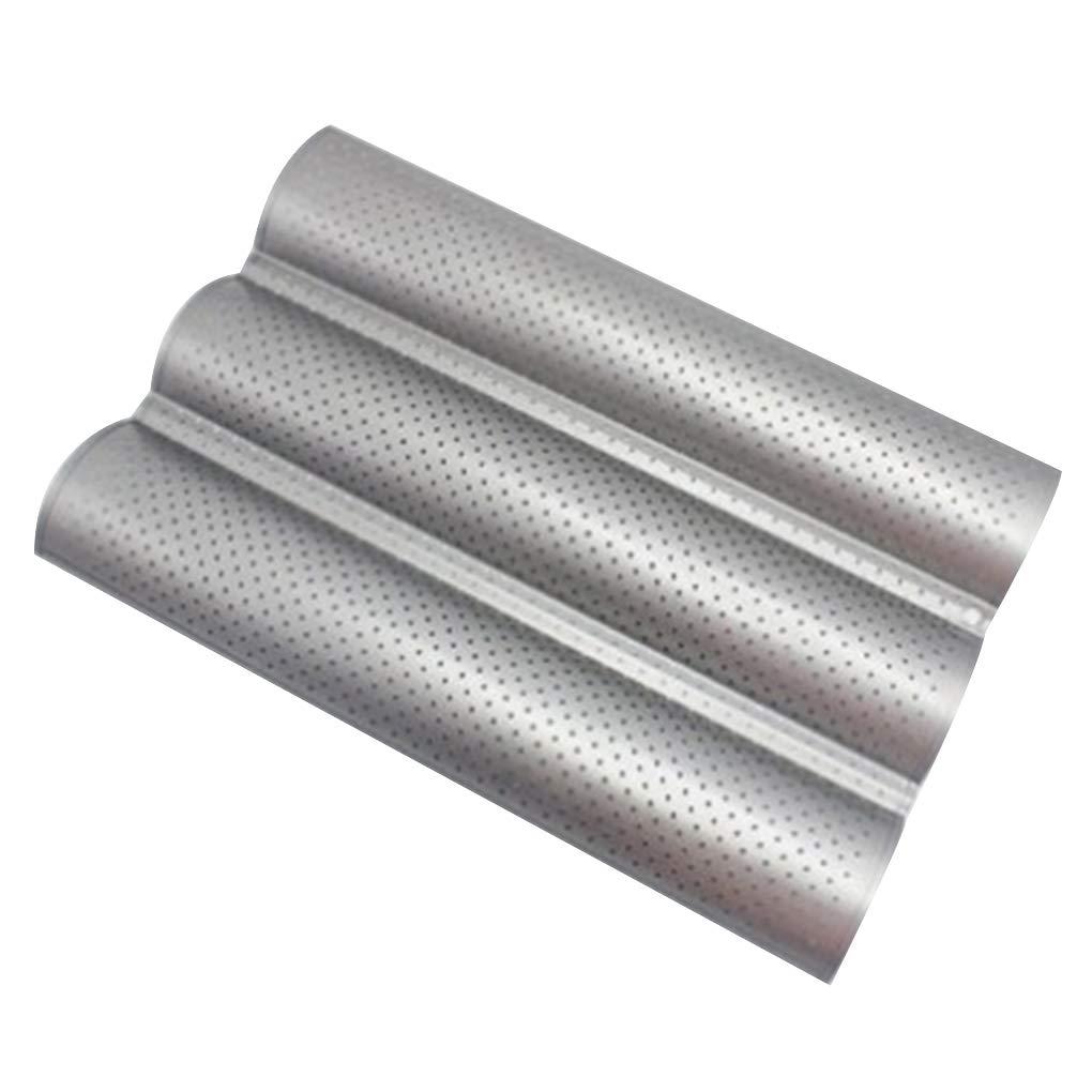 Kakiyi 2//3 Groove Wave-Franz/ösisch Brot Backblech Carbon Steel Non-Stick K/üche Baguette backen Form-Wanne