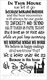 In This House…. We Do Disney, Wall Decals Letters for Cool Room Decor, Black, 34×20-Inch Picture