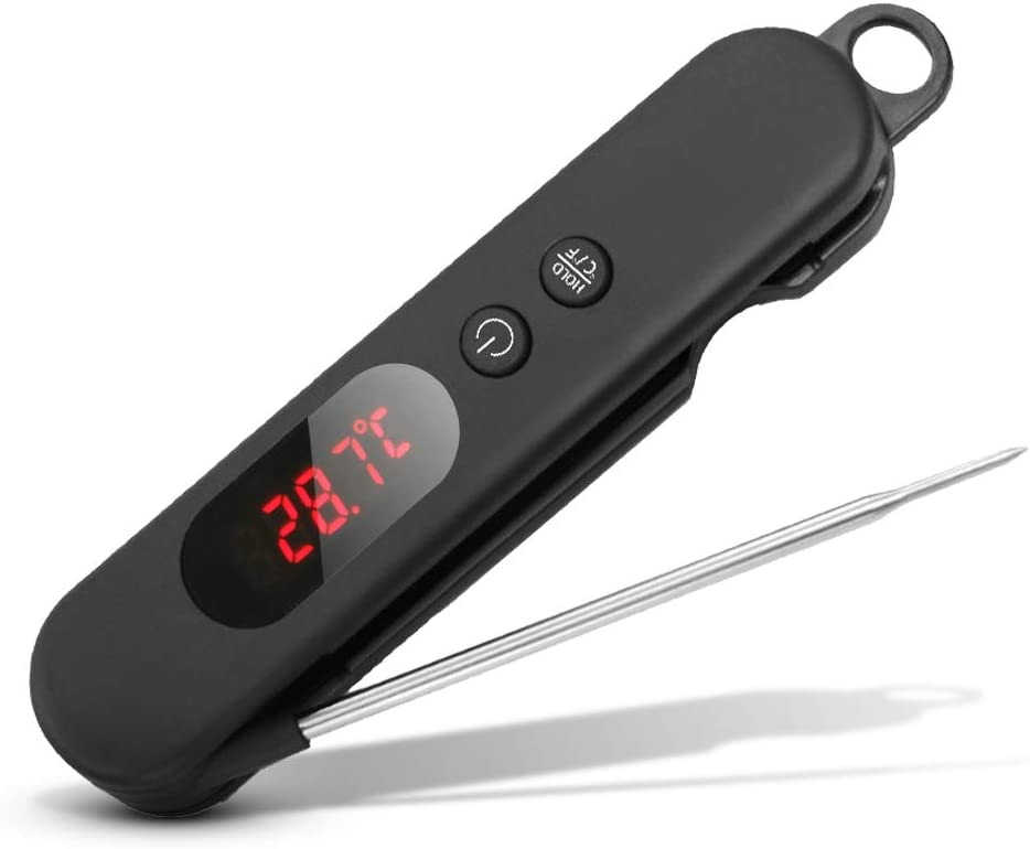 SZRWD Food Thermometer Instant Read, Meat Thermometer for Kitchen, Food Cooking, Grill, BBQ, Smoker, Candy, Home Brewing, Coffee, and Oil Deep Frying