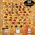 Mumu Waterproof Sugar Photo Clips String Light (50 LED - 17 ft.)