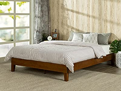 Zinus 12 Inch Deluxe Solid Wood Platform Bed / No Boxspring needed / Wood Slat Support