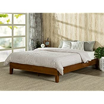 this item zinus 12 inch deluxe wood platform bed no boxspring needed wood slat support cherry finish twin