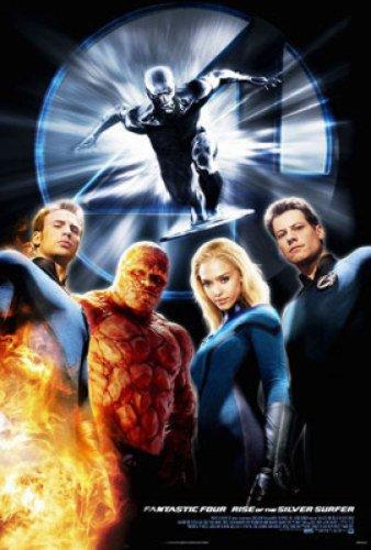 Fantastic Four: Rise Of The Silver Surfer 27X40 Single Sided Adv Style B Jessica Alba - Style Alba Jessica