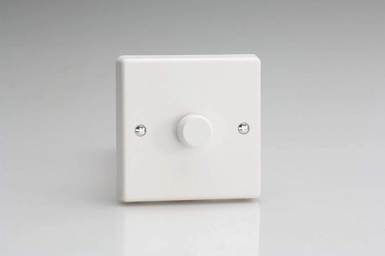 400 W White Plastic 85x85x44mm Varilight HQ1W Interruptor para regulaci/ón de intensidad 240 V