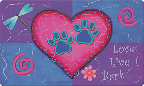 - Toland Home Garden Love Live Bark 18 x 30 Inch Decorative Floor Mat Colorful Puppy Dog Paw Heart Doormat
