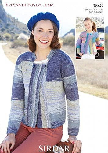 61a298f20 Sirdar Montana DK Women s   Girl s Cardigans Knitting Pattern 9648  Amazon. co.uk  Kitchen   Home