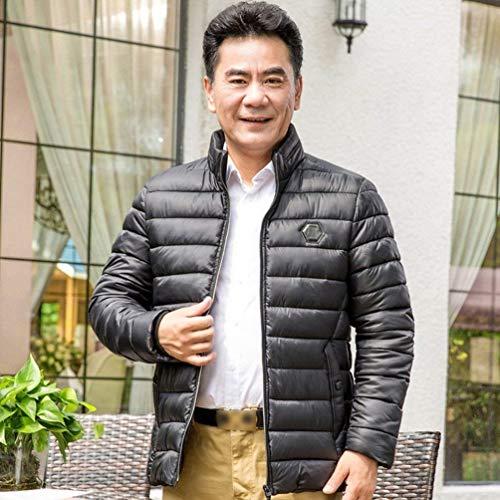 Uomini Abbigliamento Degli Il Basamento Inverno Collare Trapuntato Con Cappotto Giacca Di Schwarz Addensato UxqFwtF
