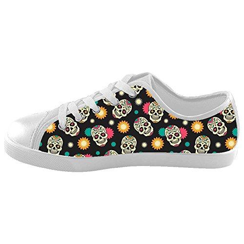 Dalliy Flower Sugar skull Kids Canvas shoes Schuhe Footwear Sneakers shoes Schuhe C