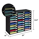 Really Good Stuff Mail Center – 1 Black Classroom Mail Center with 27 Slots – Keep Your Classroom or Office Organized, Durable, Easy Assembly, 159790BK