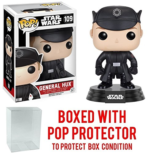 Funko Pop! Star Wars: The Force Awakens - General Hux #109 Vinyl Figure (Bundled with Pop BOX PROTECTOR CASE)