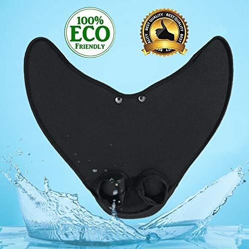 - WELIGHT Swiming Flipper Diving Fins Floating Fins Swim Monofin Black Fish Tail Fins Black S - for Child