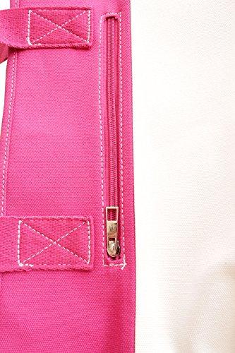 Bolsos bandolera de Lona para Mujer Bolso de Hombro bolsa de mano Shopper Bolsos totes multicolor 42*30*15cm Rosa Blanco Azul