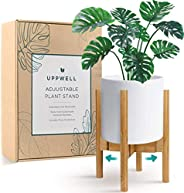 UppWell Plant Stand, Stylish Plant Stands for Indoor Plants, Adjustable 8 to 12 Inch Indoor Plant Stand, Made