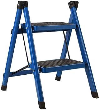Taburete, Simple Y Conveniente Taburete Alto Y Bajo Escalera Plegable Plegable De Doble Propósito Cocina Taburete Ascendente (Color : Blue): Amazon.es: Bricolaje y herramientas