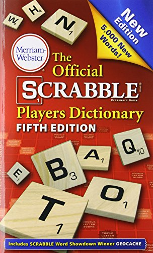 The Official Scrabble Players Dictionary, New 5th Edition (mass market, paperback) 2014 copyright