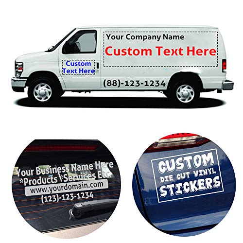 Custom Text Decal Vinyls Stickers|Customized Text and Color for Window, Shop, Car,Wall,A Sign,Warning Sign|Max Size 24 x 40 inch