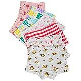 Closecret Kids Series Little Girls' Cotton Boyshort Panties (Pack of 6)