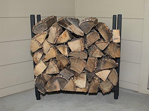 Woodhaven Fireside 2 Foot Firewood Rack in Black