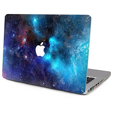 KTC Tecnología ordenador portátil Etiqueta Top pegatinas de vinilo pieles azul oscuro Starry para el MacBook