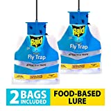 Best Fly Catchers - Raid Fly Traps (2-Pack), Outdoor & Indoor Fly Review