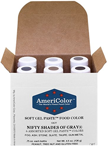 AmeriColor Food Coloring, Nifty Shades Of Gray Kit