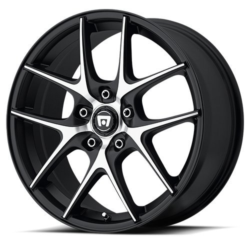 Motegi Racing MR128 Satin Black Wheel With Machined Flanged (17x7.5''/5x120mm, +45mm offset) by Motegi Racing (Image #2)
