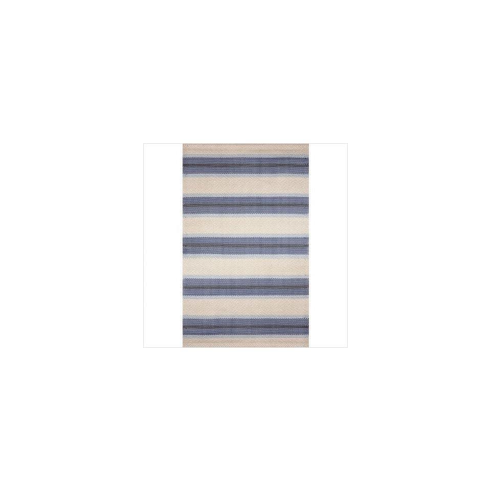 Sorento Stripe Blue Indoor / Outdoor Rug Size 8 x 10