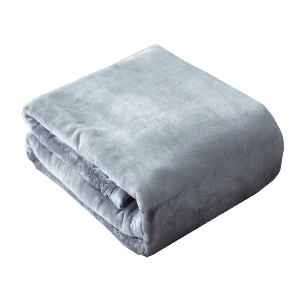 JIANXIN 毛布、ミンクのベルベット毛布、柔らかくて快適な毛布、冬には、暖かい毛布、冬には寝具、ダブルサイズで毛布 (色 : Shark ash, サイズ さいず : 150cm*230cm) B07HKF4RD1