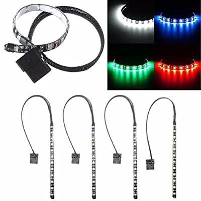 Led Strip Lights - Waterproof ble Neon Adhesive Led Strip Light For Pc Computer Case 12v 4 Pin