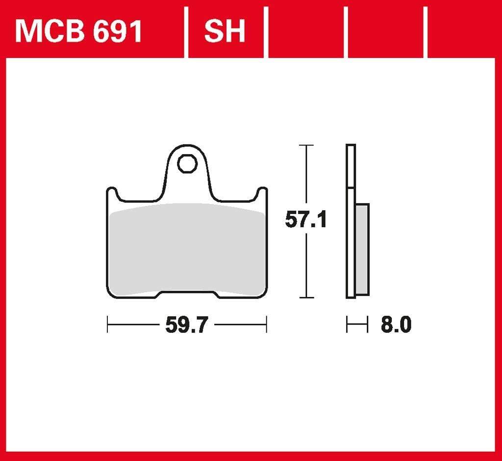 TRW Sintermetall Bremsbeläge MCB75SI hinten Moto Guzzi V65 650 TT 1984-1986