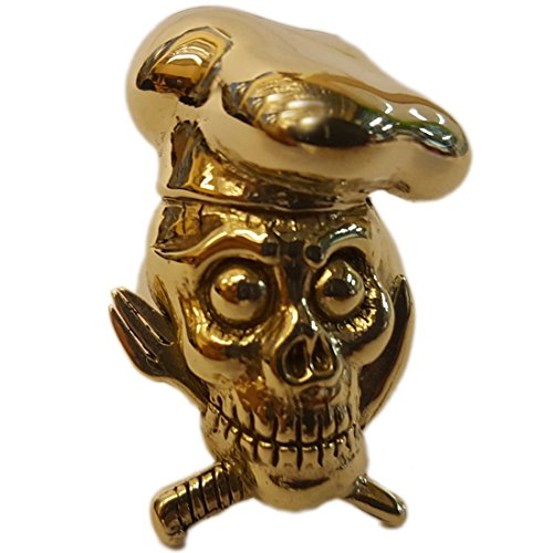 Price comparison product image BackMetal Chef Skull and Crossbone Silverware Brass Ring - Size 11
