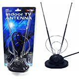 TV Indoor Antenna with Base HDTV Compatible - Universal VHF color TV antenna