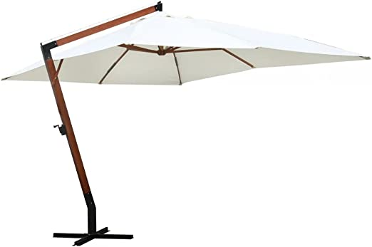 Sombrilla (color blanco y dimensiones de la lienzo: 3 x 4 metros 300 x 400 cm: Amazon.es: Jardín