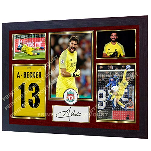 (S&E DESING New Alisson Becker Liverpool FC Signed Autographed Photo Poster mo)