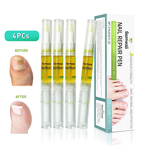 Samsali Toenail Fungus Treatment Pen, Nail Fungus Treatment, Anti Fungus Nail Treatment, Effective Fungus Cure For Toenail And Fingernail, Best Fungus Cure Pen For Toenail And Fingernail, 4 Pack