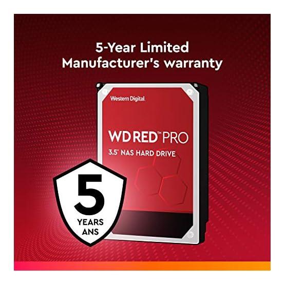 """WD Red Pro 4TB NAS Internal Hard Drive - 7200 RPM Class, SATA 6 Gb/s, CMR, 256 MB Cache, 3.5"""" - WD4003FFBX 51hnWGDfSEL. SS555"""