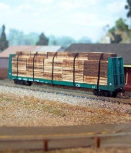 (TSP Model Trains Osborn Models N Scale NEW Flat Car Lumber Load Car Not Included New Kit Item)