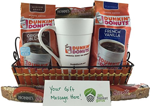 Dunkin' Donuts Original & French Vanilla Gift Basket