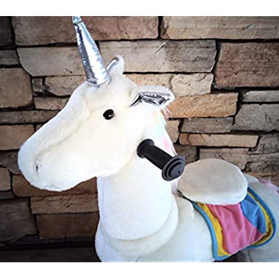 TODDLER TOYS Rainbow Unicorn Pony Rocking Cycle Mechanical Trotting Ride On Horse Age 2-: Toys & Games
