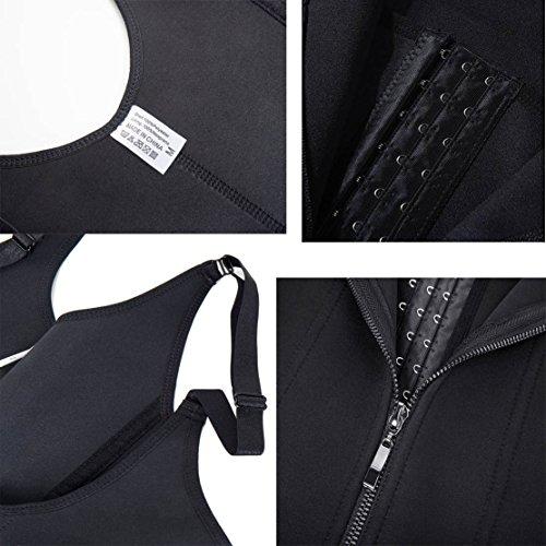 Mujer Bustiers Underbust Vest Fajas Cremallera Chaleco Moly Miss Para De Corsé Entrenamiento Reductoras Negro Hq5fw8gC