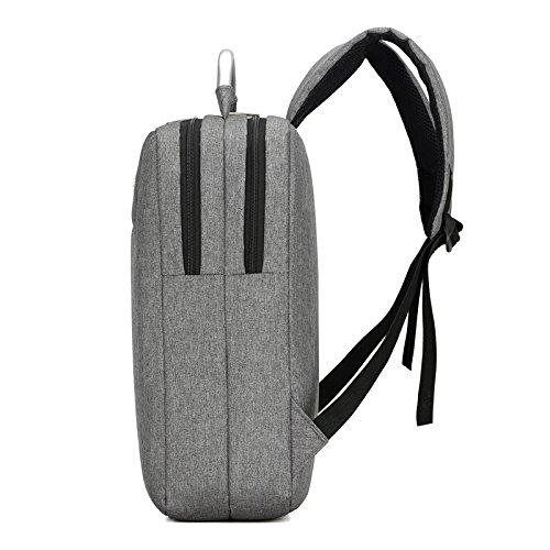 Laptop Rucksack 15,6 zoll , Nylon Schulerucksack strapazierfähig Reisetache Hiking Knapsack College Studenten Tagesrucksack mit Schulterreimen Schwarz
