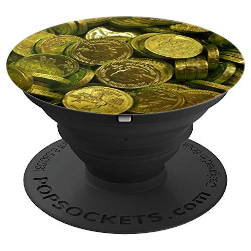 - Chocolate Coins Golden Wrapper Nostalgic Bulk Candy Treasure - PopSockets Grip and Stand for Phones and Tablets