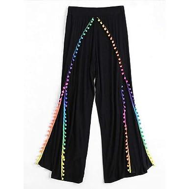 Pantalones Mujer, ASHOP Boho de Impreso Cintura de Cordón Pantalón ...